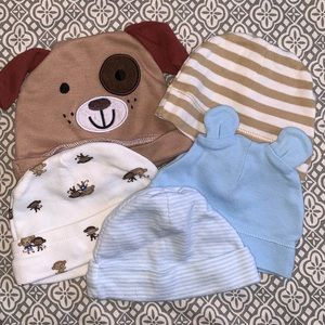 Assorted Baby Boy's Hats 0-3 Months